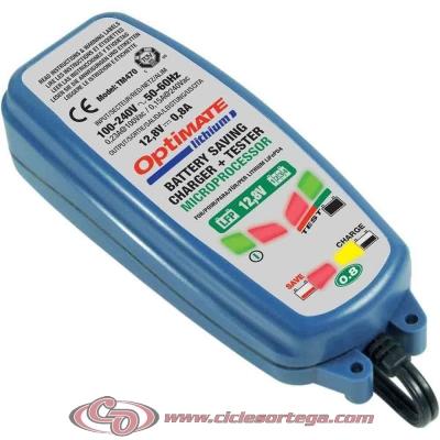 Cargador y mantenedor de baterias de litio OPTIMATE Lithium 4s 0.8A