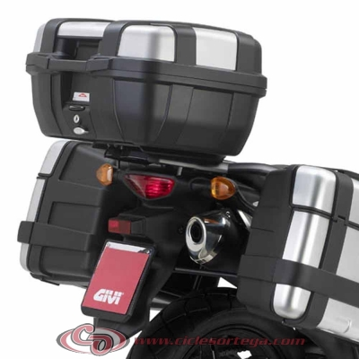 Kit Anclajes Givi SR3101 para BAUL sistema monokey SUZUKI DL V-STROM 650 2012-