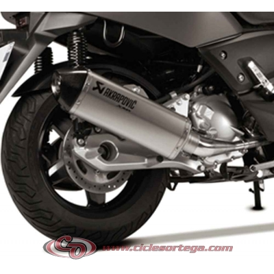 Escape completo AKRAPOVIC Slip-On de titanio para YAMAHA X- MAX 125 ABS 2010-