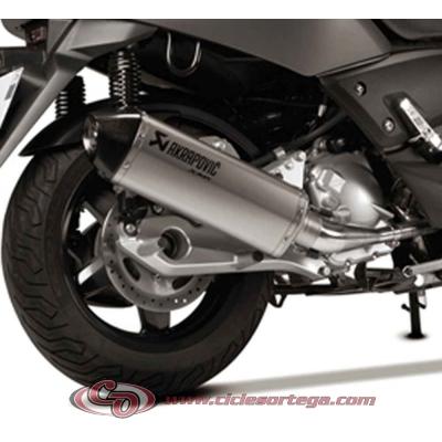 Escape completo AKRAPOVIC Slip-On de titanio para YAMAHA X-MAX 125 06-09
