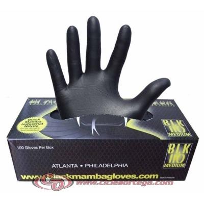 Caja de 100 guantes mecánico de nitrilo Black Mamba de Vicma