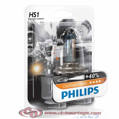 Lámpara H4 12v 60/55w Xenon Ultimate Effect 4000K Blue Vision Moto de Philips