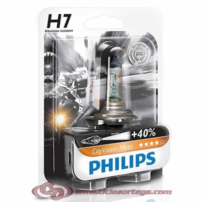 Lámpara HS1 12v 35/35w City Vision Moto +40% de luz de Philips