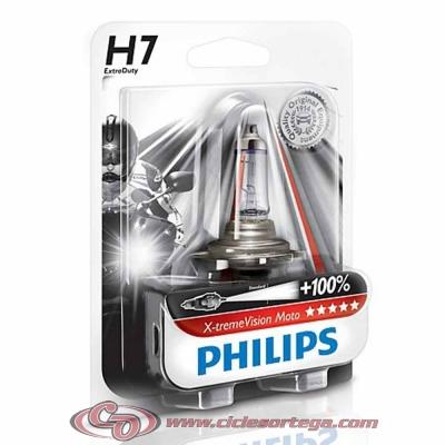 Lámpara H7 12v 55w Xenon Ultimate Effect 4000K Blue Vision Moto de Philips