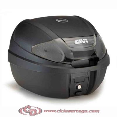 Baul Givi E300 Tech 30 litros E300NT Monolock con base universal