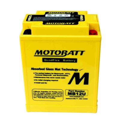 Bateria de Gel MB12U equivalente a YB12AL-A de Motobatt