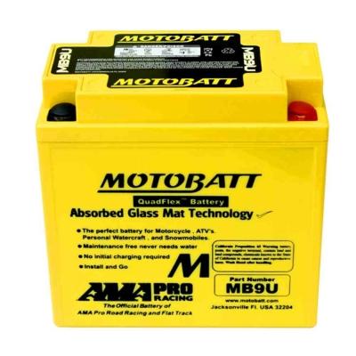 Bateria de Gel MB9U equivalente a 12N7-3A de Motobatt