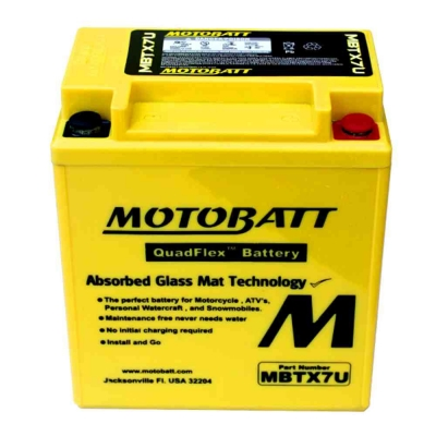 Bateria de Gel MBTX4U equivalente a YB4L-B de Motobatt