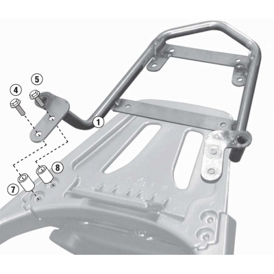 Kit Anclajes Givi SR6101 para BAUL sistema monolock KYMCO GRAND DINK 125 2013-