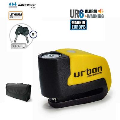Candado antirrobo con alarma inteligente 120 dba Urban UR6 Litio de Artago