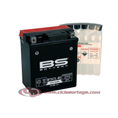 Bateria BS BATTERY BTX7L-BS (compatible con YTX7L-BS)