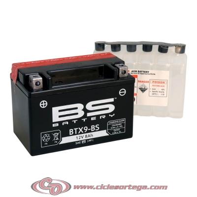 Bateria BS BATTERY BTX9-BS equivalente YTX9BS ACTIVADA