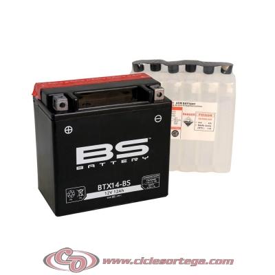 Bateria BS BATTERY BTX14-BS equivalente a YTX14-BS ACTIVADA