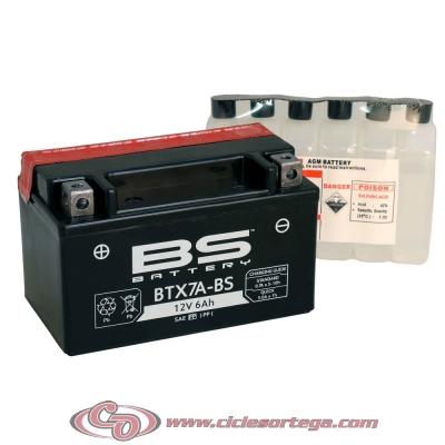 Bateria BS BATTERY BTX7A-BS (compatible con YTX7A-BS) ACTIVADA