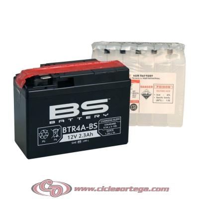 Bateria BS BATTERY BTR4A-BS equivalente YUASA YTR4A BS
