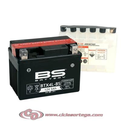 Bateria BS BATTERY BTX4L-BS equivalente YTX4L-BS ENVIO 24 HORAS