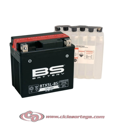 Bateria BS BATTERY BTX5L-BS (equivalente a YTX5L-BS)