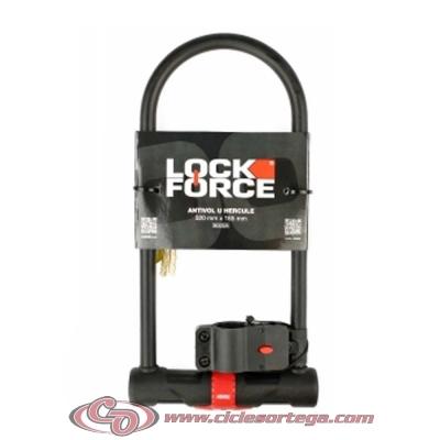 """Candado antirrobo con soporte """"U"""" 603030 de Lock Force"""