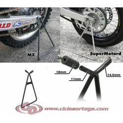 Caballete trasero enduro-cross 549825B de TNT