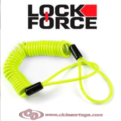 Recordatorio avisador de candado de disco Amarillo de Lock Force