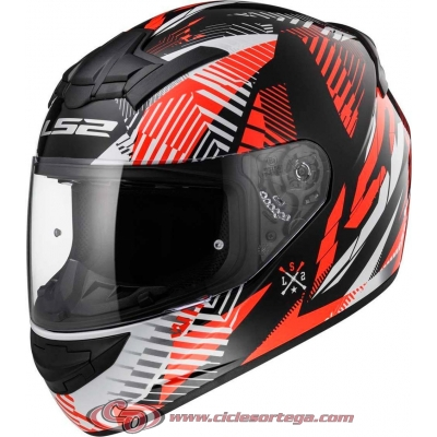 Casco integral LS2 FF352 FAN matt orange