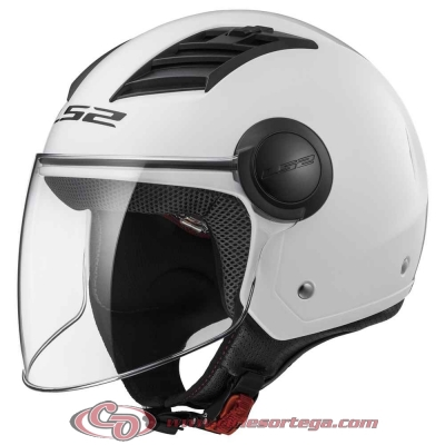 Casco Jet LS2 AIRFLOW L OF562 SOLID White talla XXS