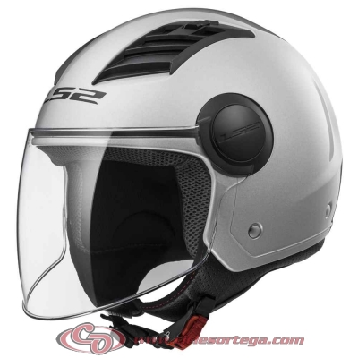 Casco Jet LS2 AIRFLOW L OF562 SOLID Silver talla XXS