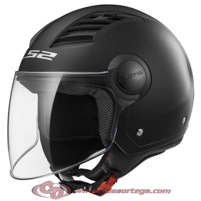Casco Jet LS2 AIRFLOW L OF562 SOLID Matt Black talla XXL