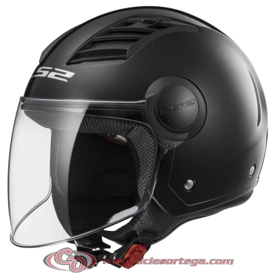 Casco Jet LS2 AIRFLOW L OF562 SOLID Black talla L