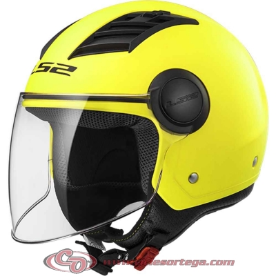 Casco Jet LS2 AIRFLOW L OF562 SOLID Matt H-V Yellow talla XS