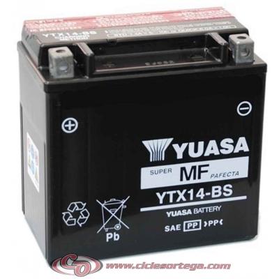 Bateria YUASA YTX14-BS Original Yamaha ENVIO 24 HORAS