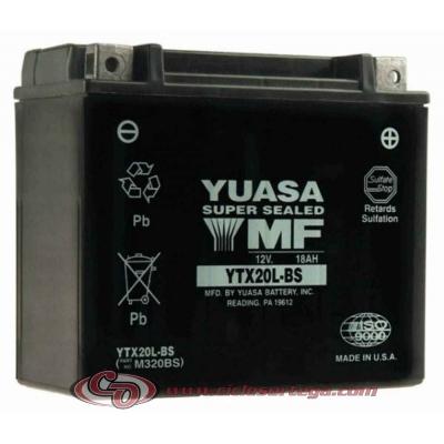 Bateria YUASA YTX20L-BS ACTIVADA Original Yamaha ENVIO 24 HORAS