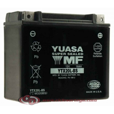 Bateria YUASA YTX20L-BS Original Yamaha ENVIO 24 HORAS