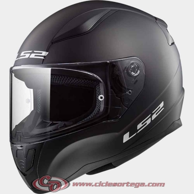 Casco integral infantil LS2 RAPID mini FF353J SOLID Matt Black talla L