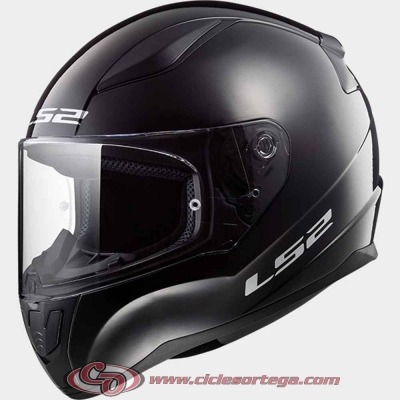 Casco integral infantil LS2 RAPID mini FF353J SOLID Black talla L