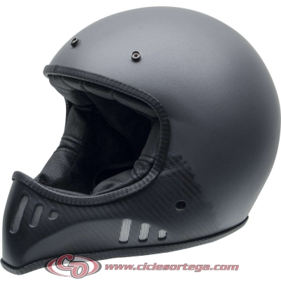 Casco NZI cross MAD CARBON ANTRACITE mate talla XS