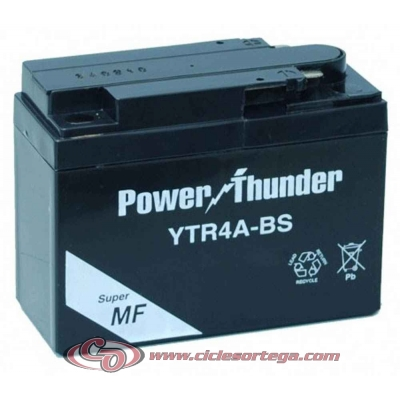 Bateria POWER THUNDER YTR4A-BS