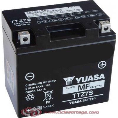 Bateria YUASA TTZ7-S equivalente YTZ7-S