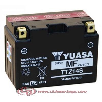Bateria YUASA TTZ14S ACTIVADA (compatible con YTZ12S y YTZ14S)