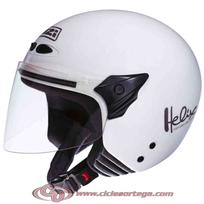 Casco NZI Jet HELIX II JR WHITE brillo talla L