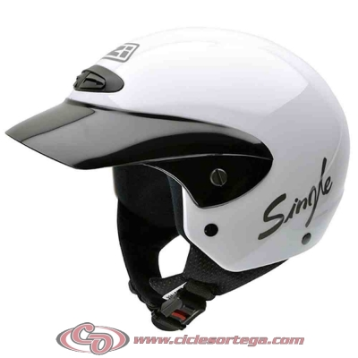 Casco NZI Jet SINGLE JR WHITE brillo talla S