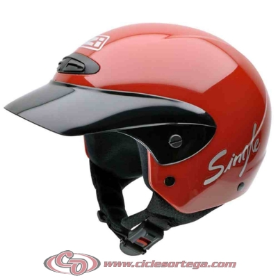 Casco NZI Jet SINGLE JR RED brillo talla S
