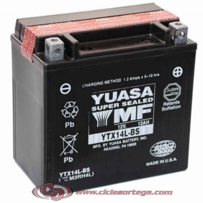 Bateria YUASA YTX14L-BS ENVIO 24 HORAS
