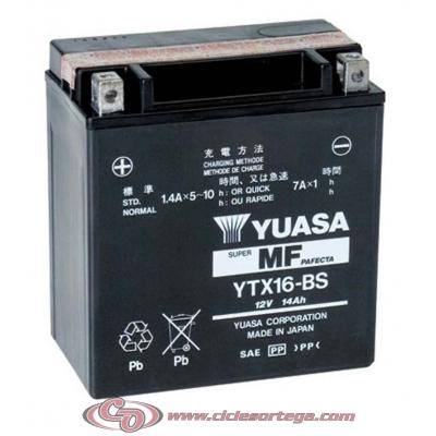Bateria YUASA YTX16-BS ENVIO 24 HORAS