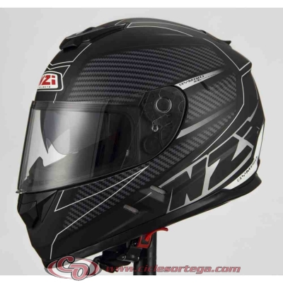 Casco NZI integral SYMBIO2 DUO FIBER VOLT BLACK WHITE mate talla S