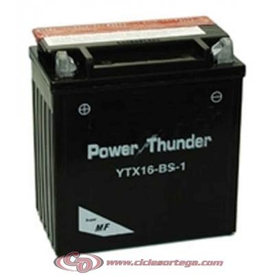 Bateria POWER THUNDER YTX16-BS-1 ACTIVADA