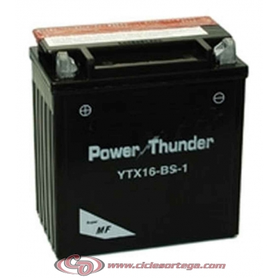 Bateria POWER THUNDER YTX16-BS-1