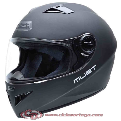 Casco NZI integral MUST II MATT BLACK mate talla M