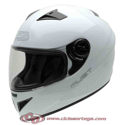 Casco NZI integral MUST II WHITE brillo talla XL