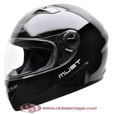 Casco NZI integral MUST II BLACK brillo talla S